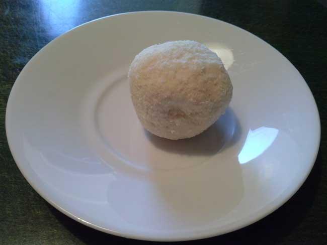 Kokos-vanili kugla