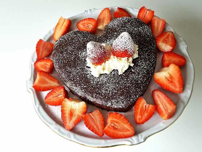 Valentinov čokoladni srček