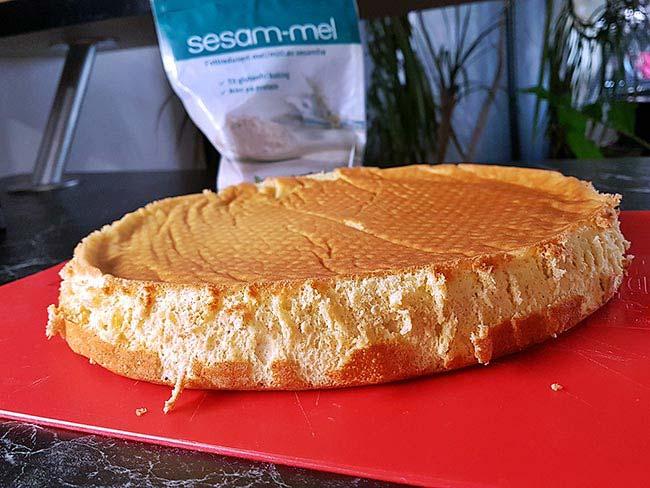 Biskvit za torto s sezamovo moko
